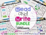 Read and Write CVC, CVCe, and CCVC Words Bundle
