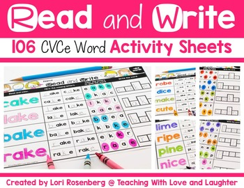 Read and Write CVCe Words