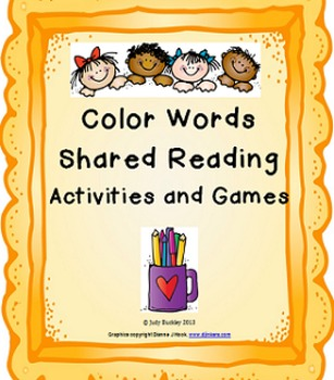 Color Words Shared Reading Activities and Games