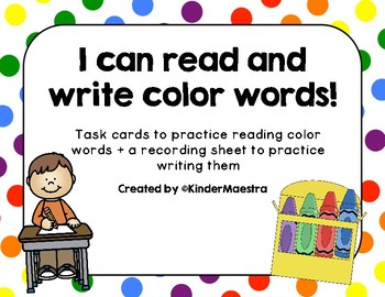 Read and Write Color Words