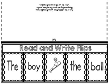 Cut-Up Sentences and Sound Bubbles for RTI {Read and Write Program}