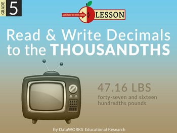 Read and Write Decimal Numbers to the Thousanths