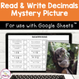 Read and Write Decimals Mystery Picture for Google Classroom