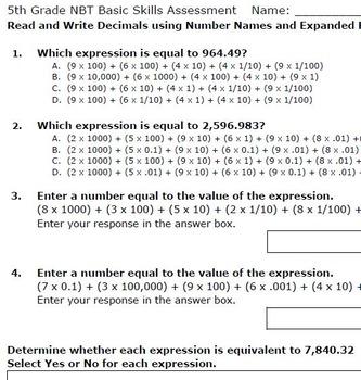 Read and Write Decimals - Smarter Test Prep