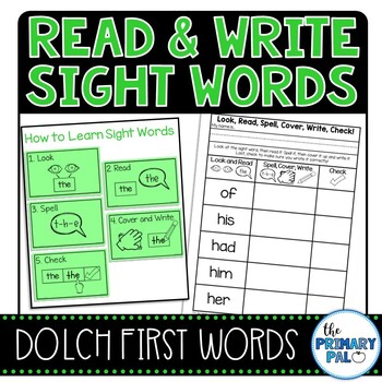 Read and Write First Grade Sight Words Practice