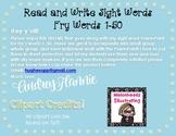 *FREEBIE* Read and Write Fry Words 1-50