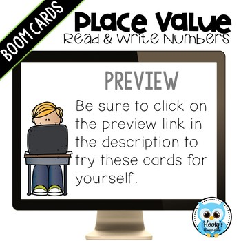 Read and Write Large Numbers Digital Task Cards
