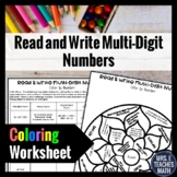 Read and Write Multi-Digit Numbers Color By Number  4.NBT.2