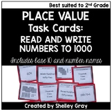 Read and Write Numbers to 1000 - Place Value Task Cards fo