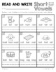 Read and Write Phonics Practice Worksheets Short Vowel A E I O U