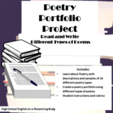 Read and Write Poems! Poetry Portfolio Project- PDF