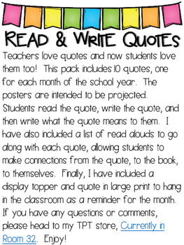 Read and Write Quotes