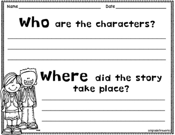 Read and Write! Reading Response Pages