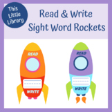 Read and Write Rockets - Space Theme Sight Word Activity -