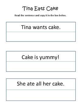 Read and Write Sentence Practice