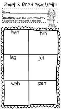 Read and Write Short Vowels
