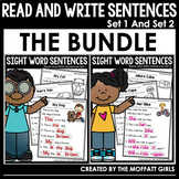 Read and Write Sight Word Sentences Set 1 and 2 (The Bundle)