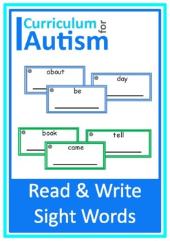 Read and Write Sight Words Autism Special Education