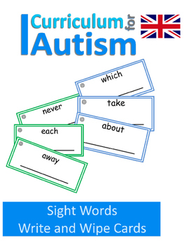 Read Write Sight Words Autism Special Education {UK Spelling}
