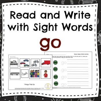 Read and Write Sight Words for Special Education GO