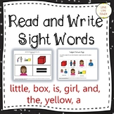 Read and Write Sight Words for Special Education: LITTLE,