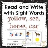 Read and Write Sight Words for Special Education SEE, CAR,
