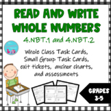 Read and Write Whole Numbers Task Cards Sets