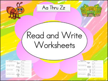 Read and Write Worksheets
