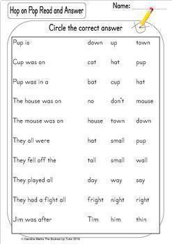 Hop on Pop Dr Seuss Get Writing and Spelling worksheets emergent readers
