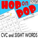 {HOP on POP activities} {dr seuss worksheets} {read across