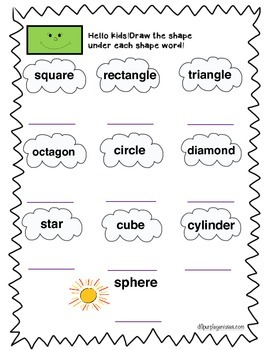 Read and Draw Your Shapes Kids! CCSS