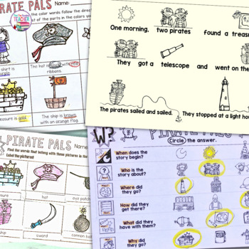 Fun Pirate Activities - Read and Write and More K-3!