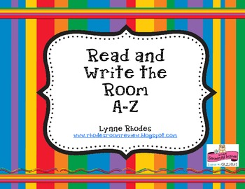 Read and Write the Room A-Z
