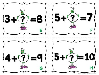 Math Center for Addition - Read and Write the Room