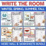Write the Room Activities BUNDLE All 4 Seasons Fall Winter Spring Summer