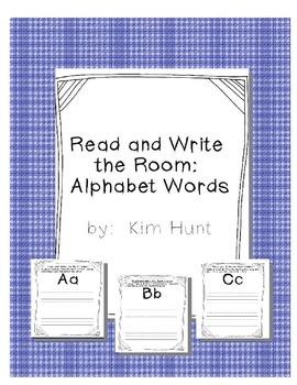 Read and Write the Room Center Alphabet