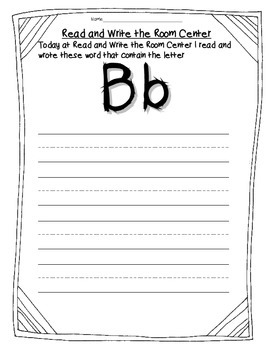 Read and Write the Room Center Alphabet Free