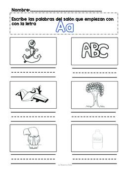 Spanish Read and Write the Room/  Centro de leer y escribir el salón de clases