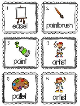 Read and Write the Room Color/Art Words
