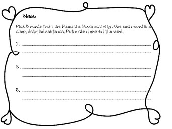 Read and Write the Room Long E words 1 and 2 syllables