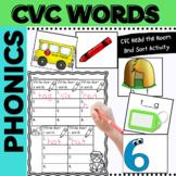 Phonics CVC Words Short Vowel Words for K-1