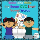Phonics CVC Words Read the Room Simple Short Vowel Words for K-1