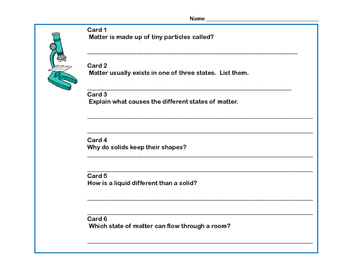 Reading Comprehension- Solids, Liquids and Gases Scavenger Hunt- Grades 4-7