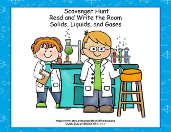 Reading Comprehension- Solids, Liquids and Gases Scavenger