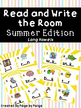 Read and Write the Room-Summer Edition! *long vowels*