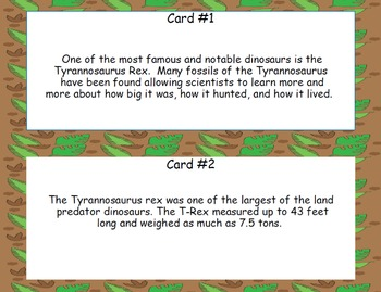 Tyrannosaurus Rex-Read and Write the Room - Scavenger Hunt- Grades 4-7