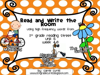 1st Grade Reading Street: Read and Write the Room: Unit 5