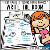 First Grade and Second Grade Phonics Write the Room Activity