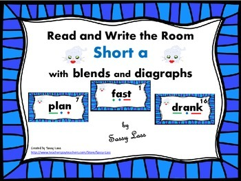 Read and Write the Room short a with blends and digraphs Common Core Aligned