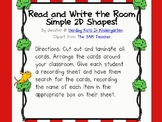 Read and Write the Room with Simple 2D Shapes!